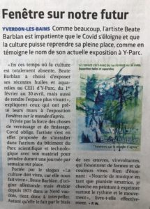 Exposition Beate Barblan article la Région